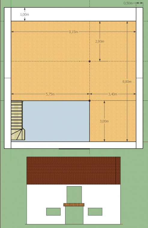 Plancher bois dans étable