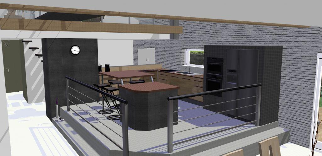 Mod lisations 3d du loft l 39 ext rieur mod lisations 3d for Logiciel modelisation cuisine