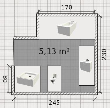 Besoin d 39 aide pour am nagement salle de bain d 39 environ 6 for Salle de bain 5m2 avec douche