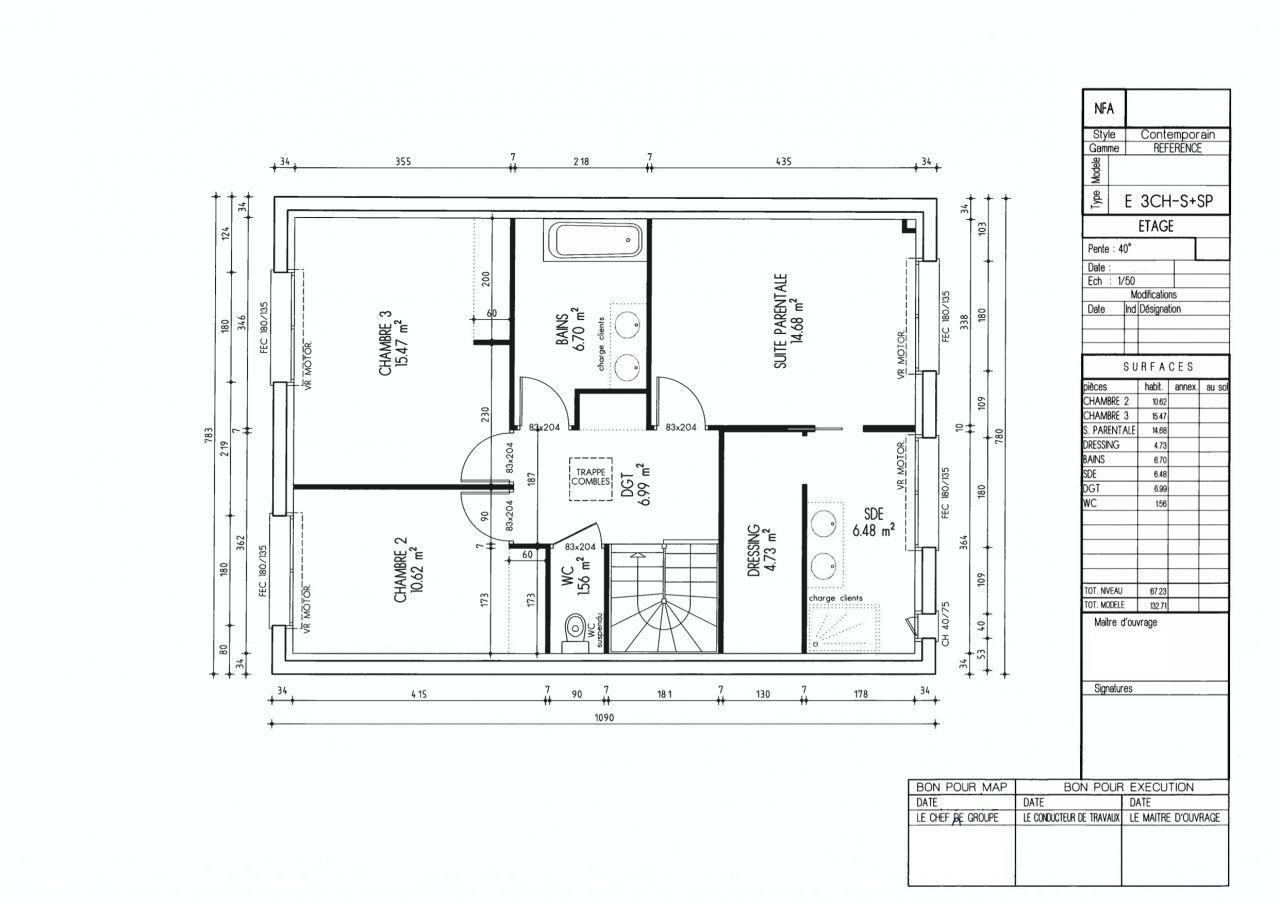 Plan du R+1 pour la MAP