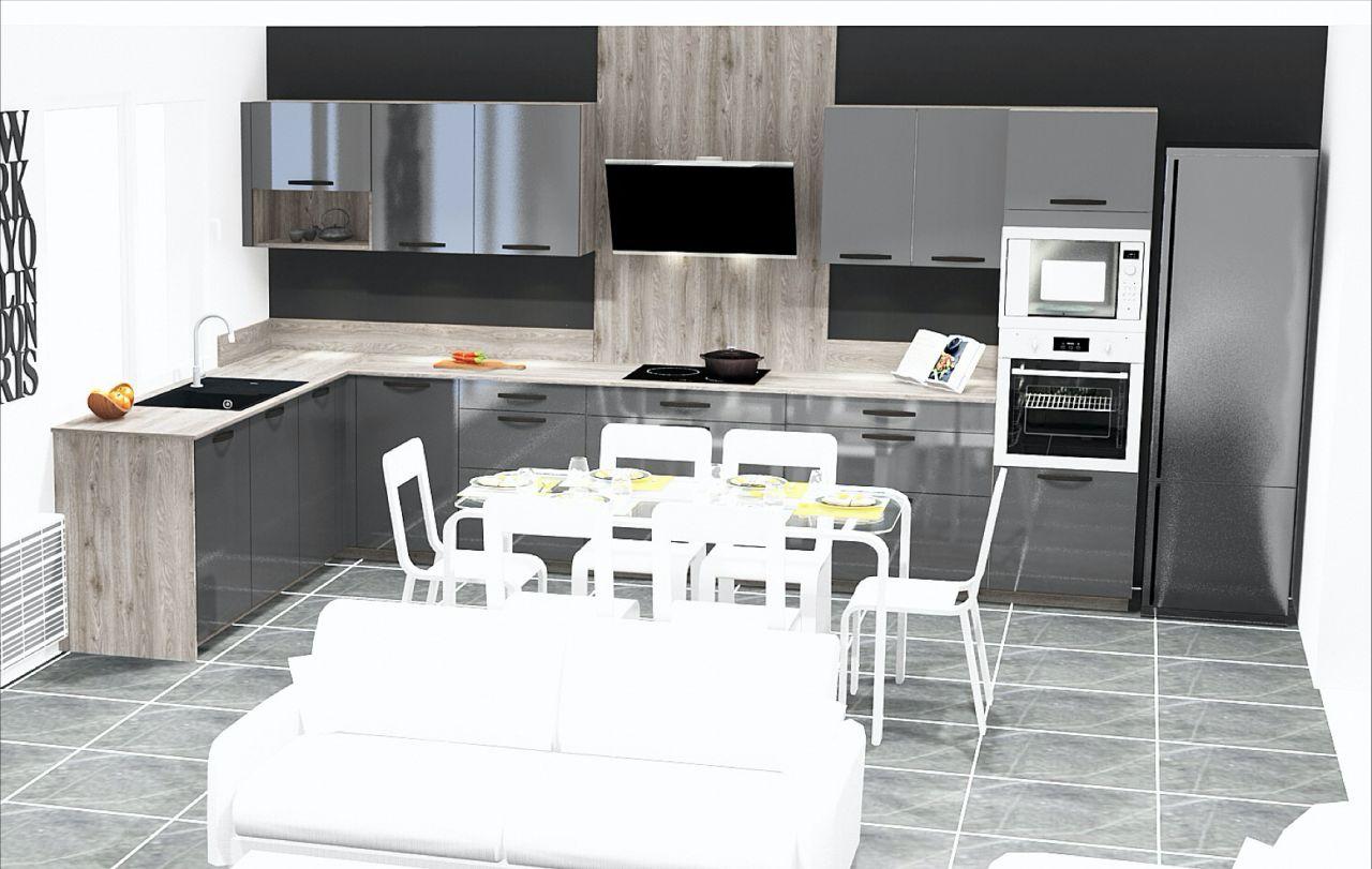 Rendu 3D de la cuisine