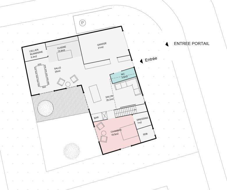 Esquisse architecte RDC