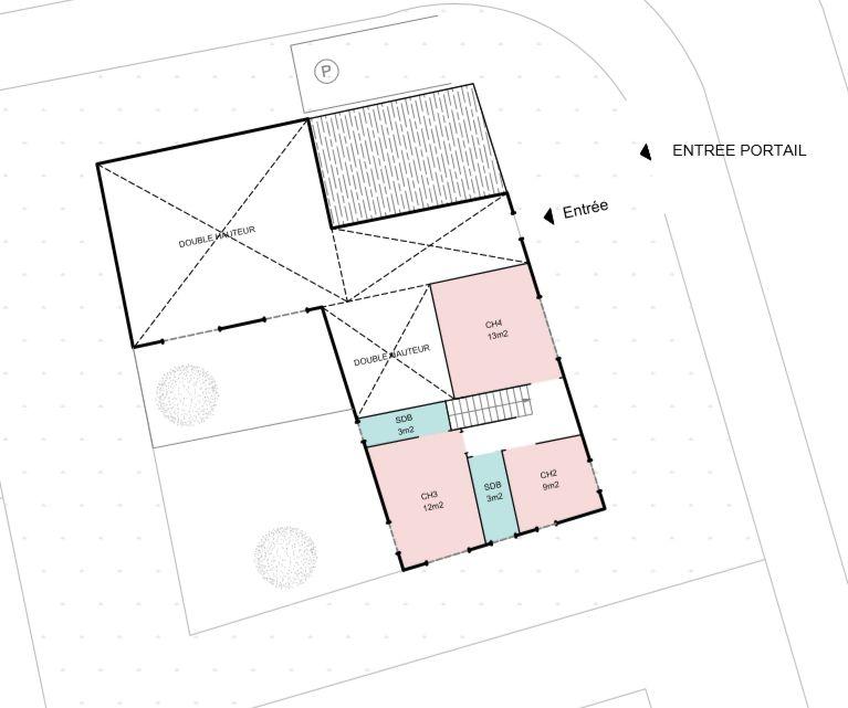 Esquisse architecte étage