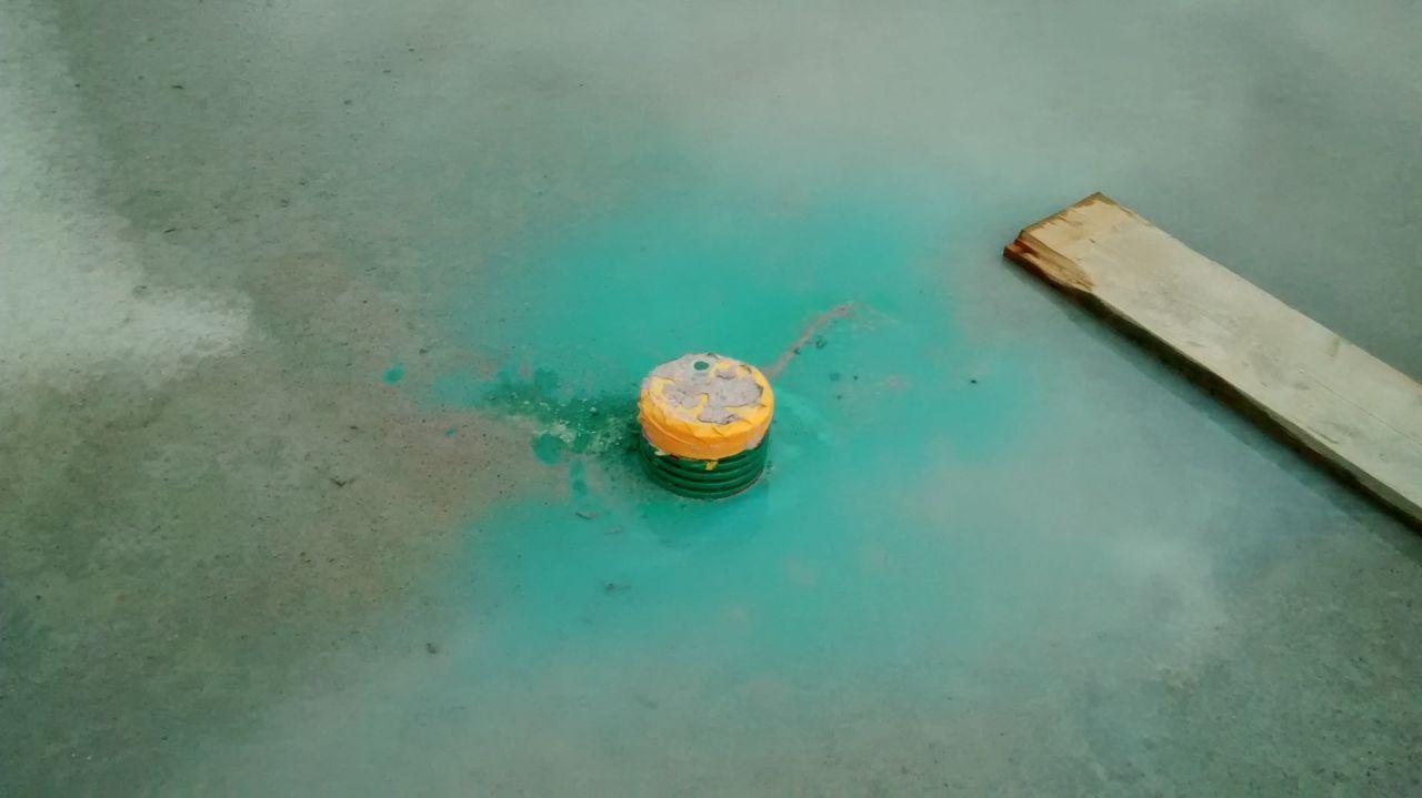 Traitement anti-termites réalisé mais peinture qui s'est diluée...