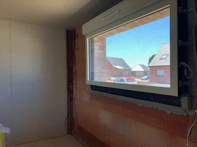 Fenêtre fixe aluminium bicolore) <br /> salon