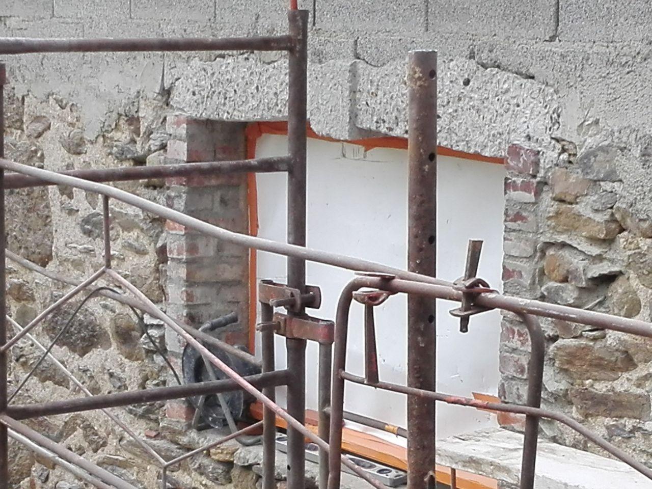 linteau repiqué avec imitation pierre clé de cintre