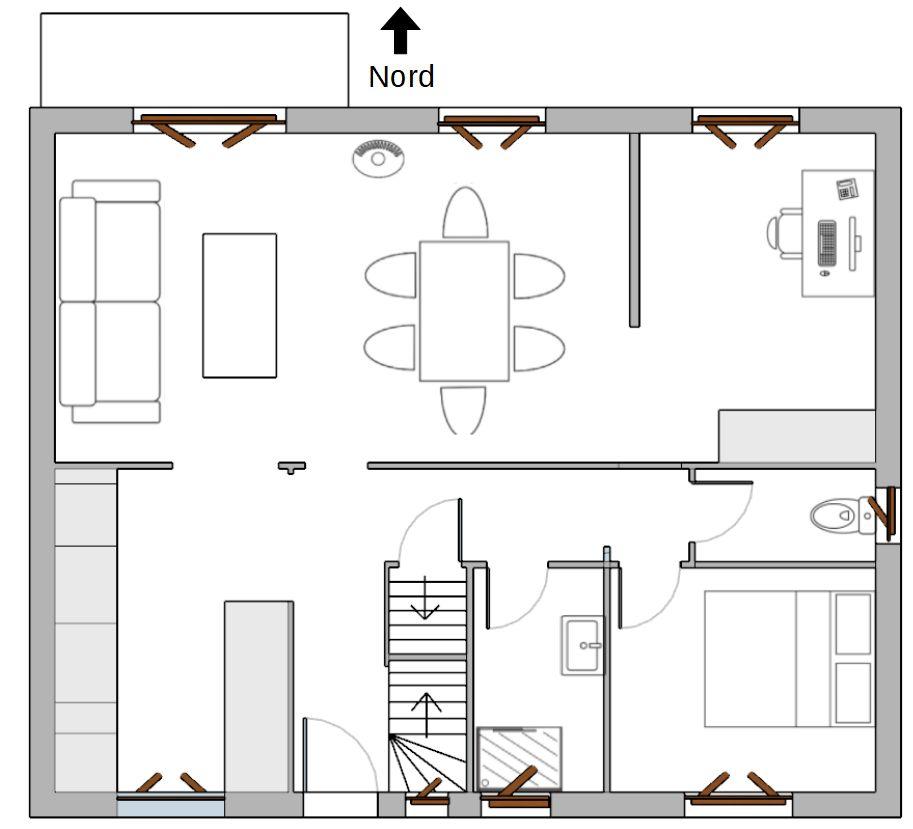 Troisième solution pour l'organisation de la maison.