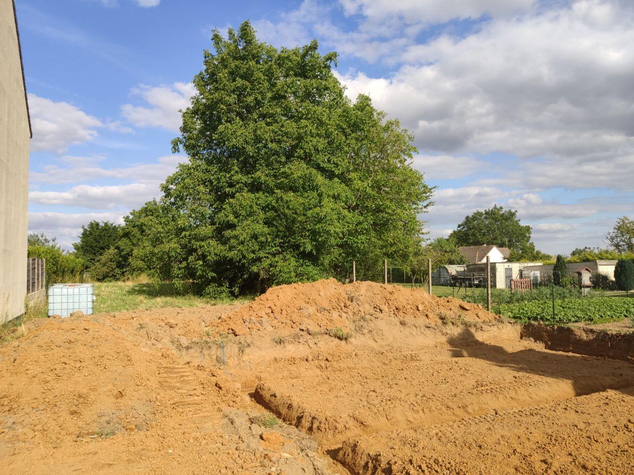 Terrassement fait le 03/07/2020 + abattage et dessouchage des arbres