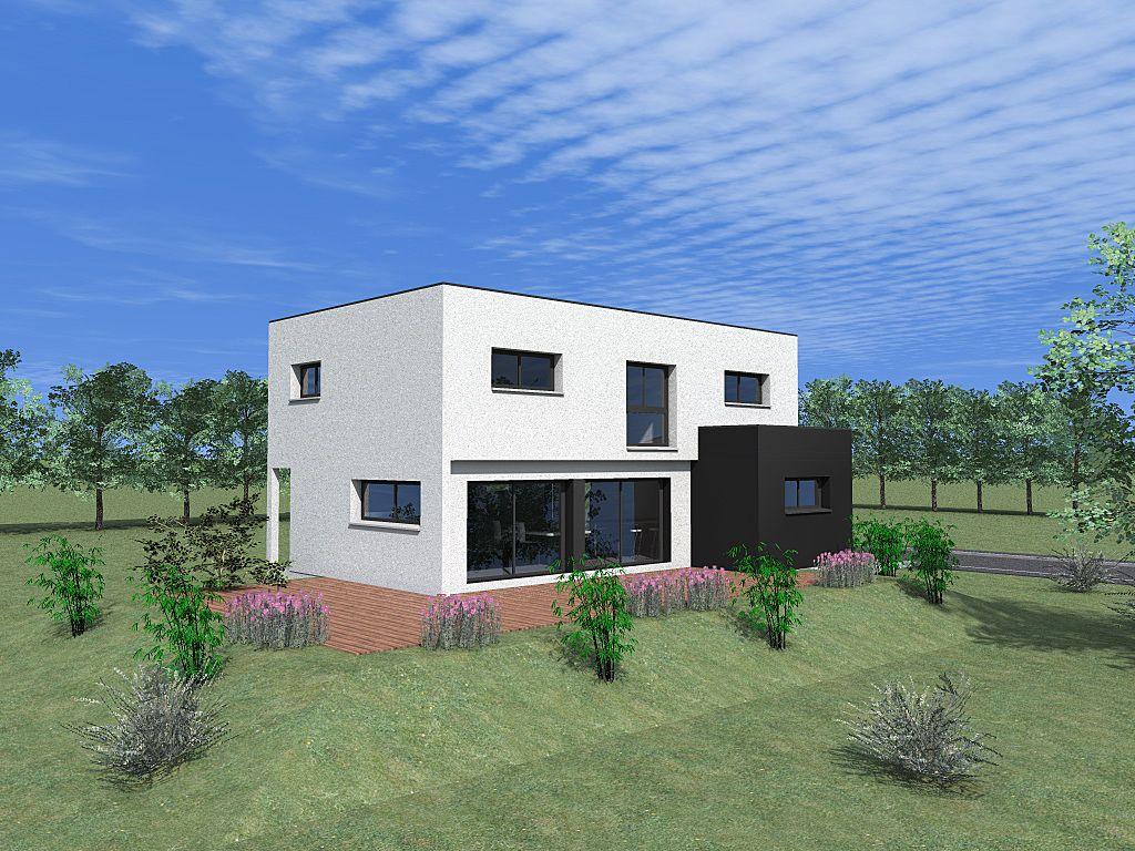 Photo vue 3d sud ouest plan de maison haut rhin 68 - Plan maison sud ouest ...