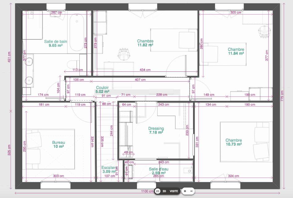 Dernière version de notre plan - étage