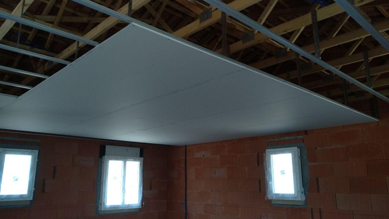 Pose du plafond