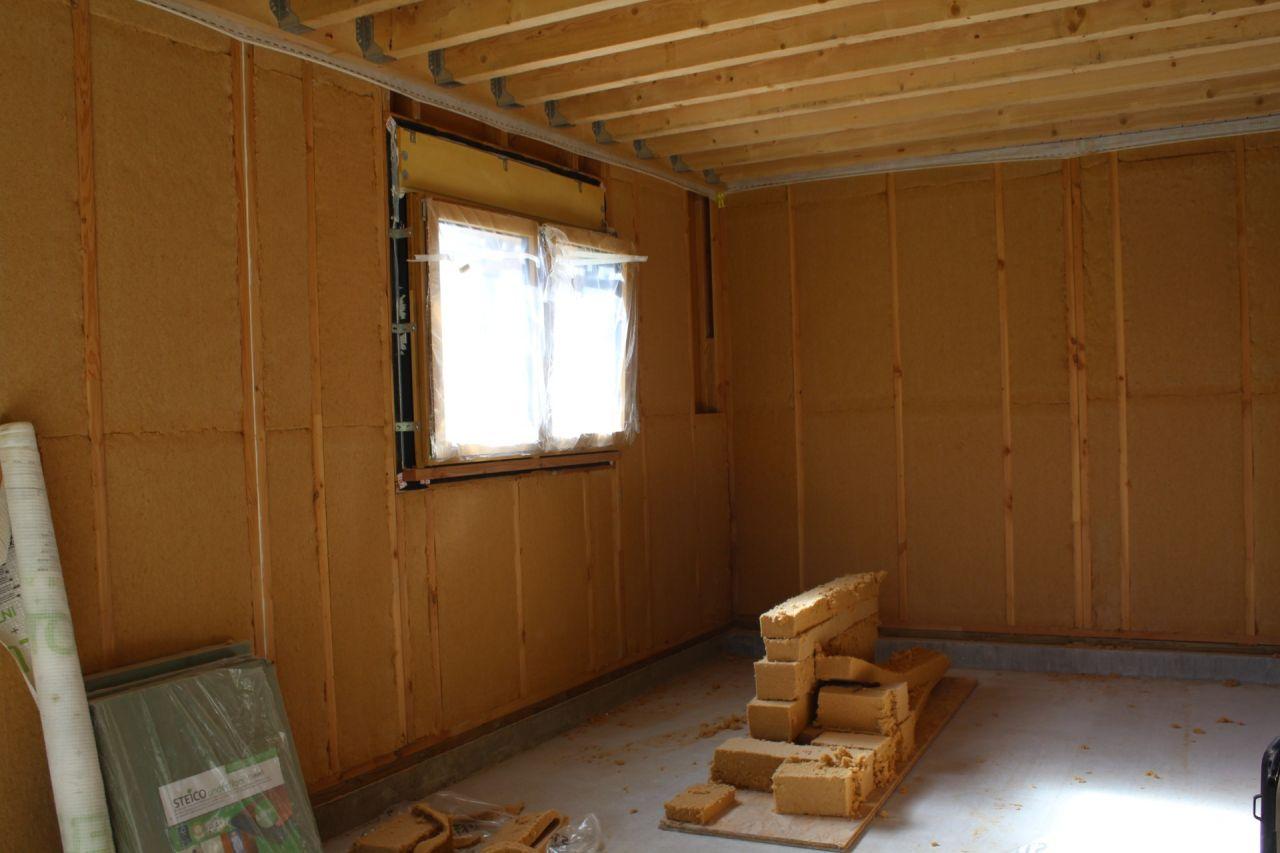 isolation laine de bois 145 entre montants d'ossature