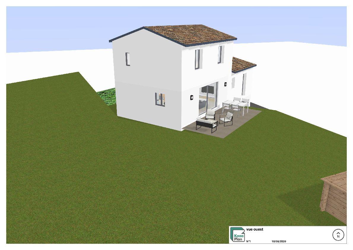 plan 3D exterieur vue ouest