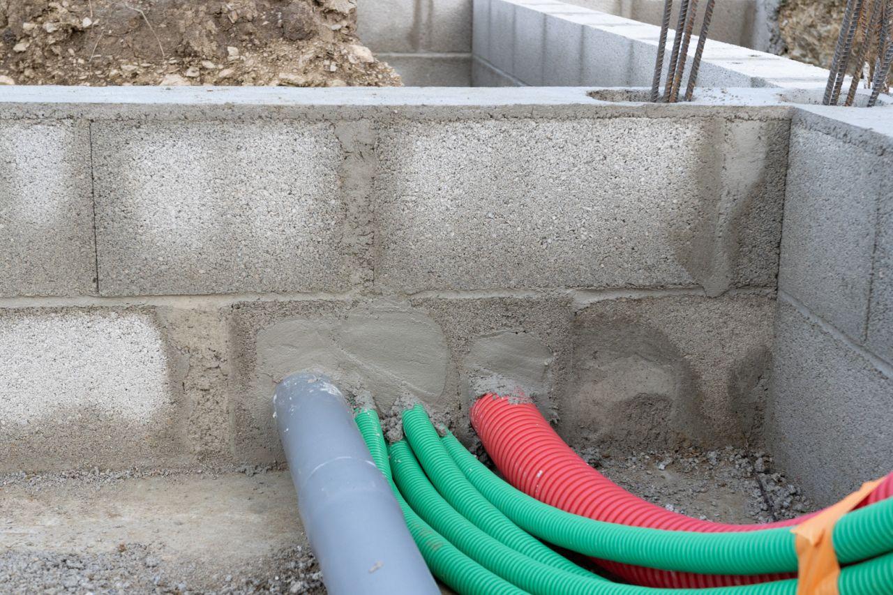 Vide sanitaire garage - arase étanche - gaines et évacuations