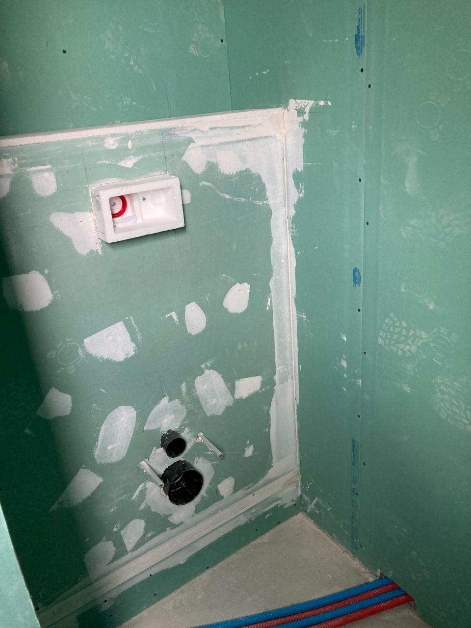 cloison sur bati des WC suspendu