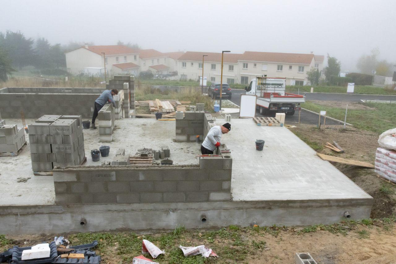 Élévation des murs - RDC