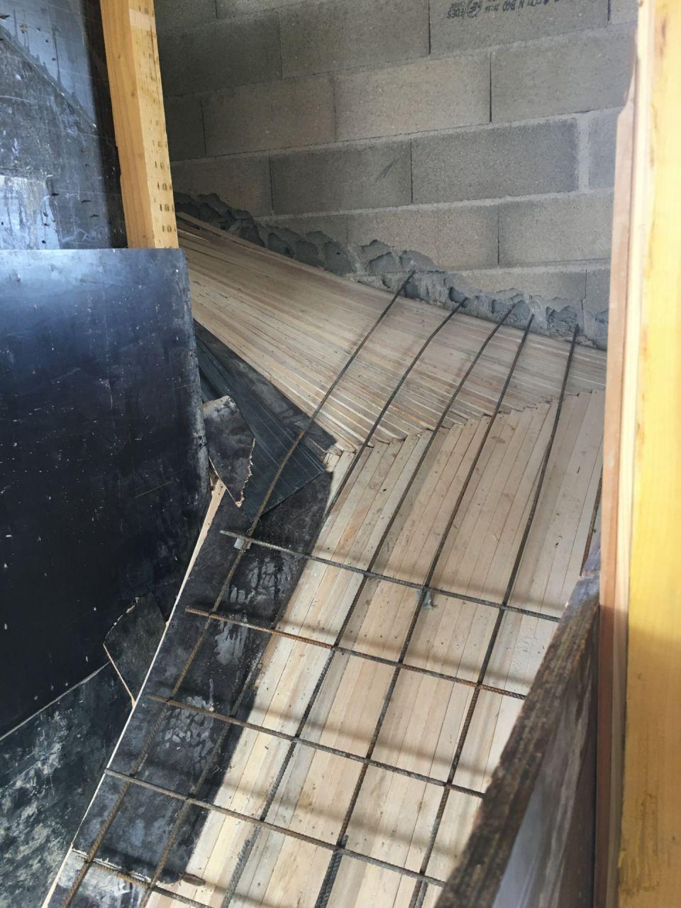 préparation de l'escalier intérieur