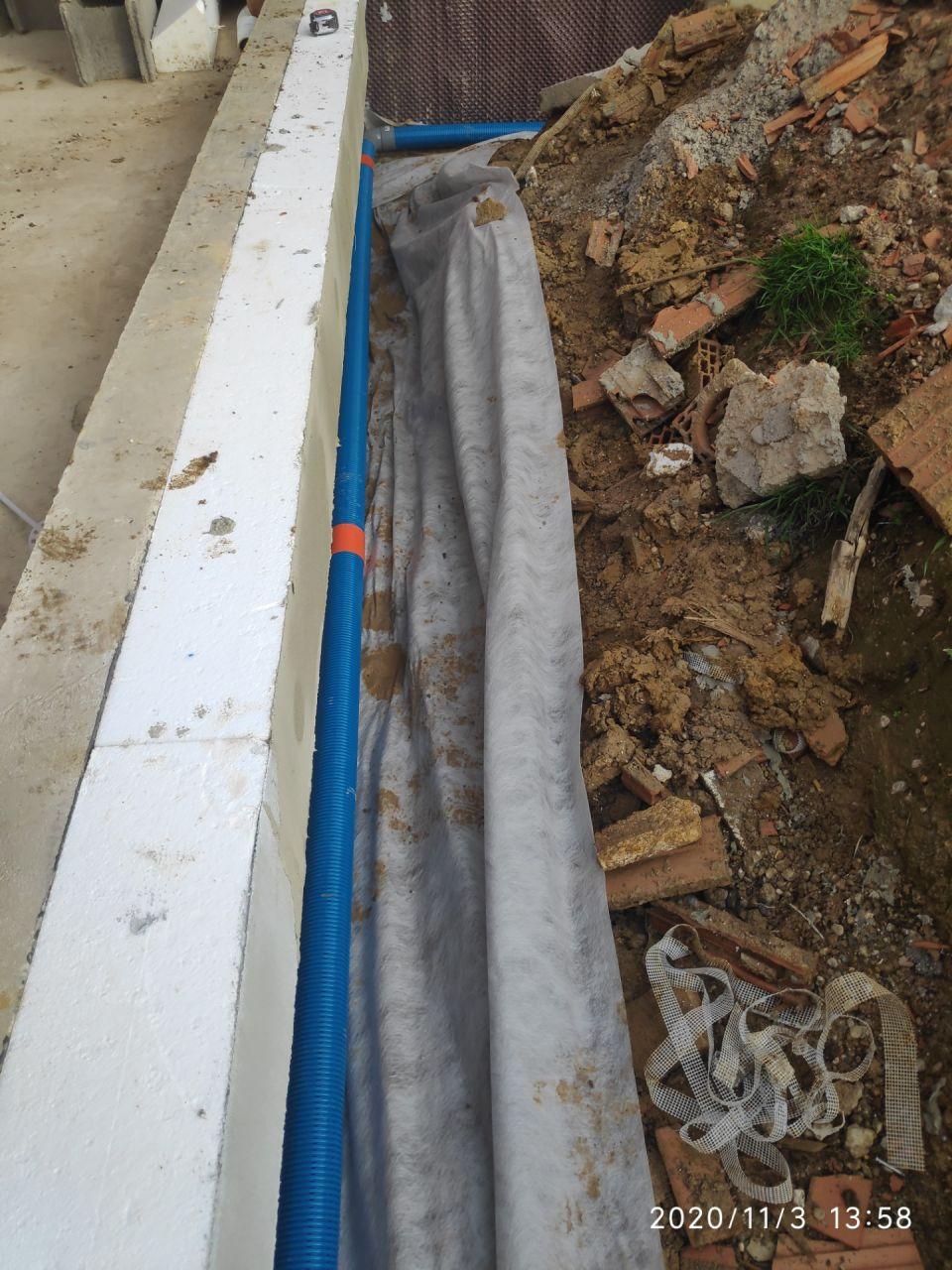 delta ms + isolants de pont thermiques + drainage