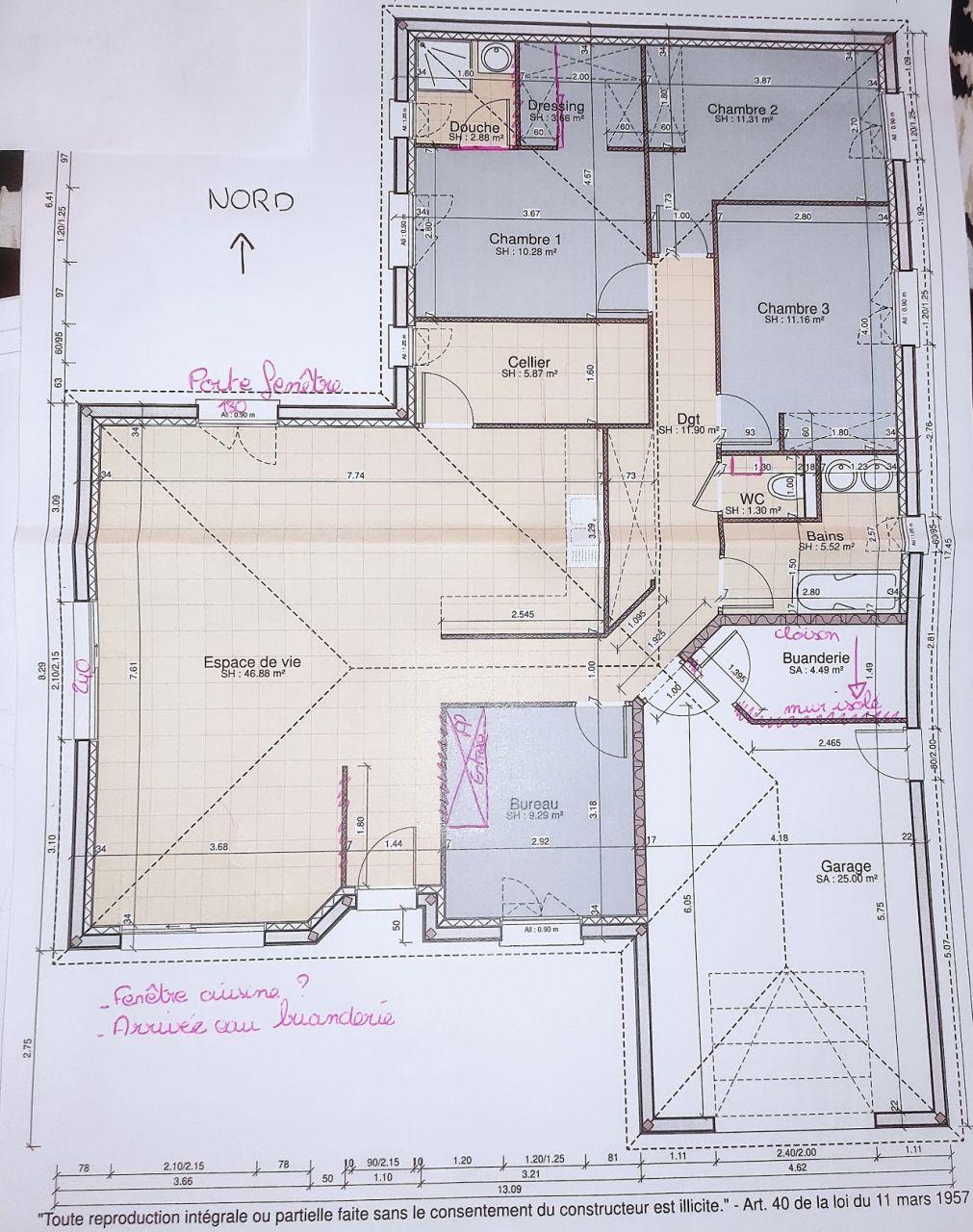 Nouvelle proposition de plan constructeur