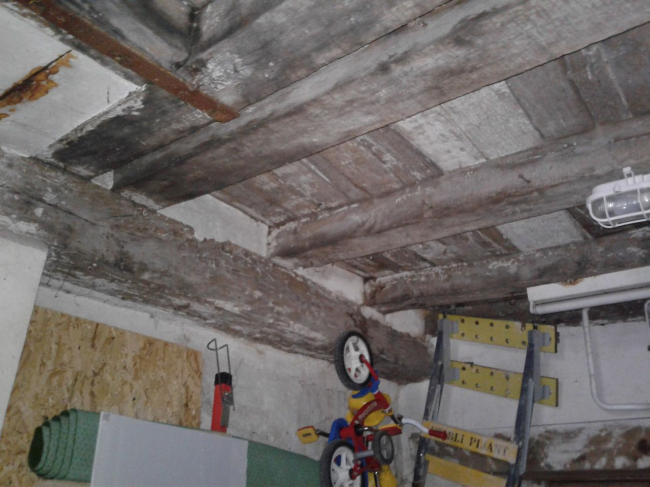 Vue Plafond Garage existant