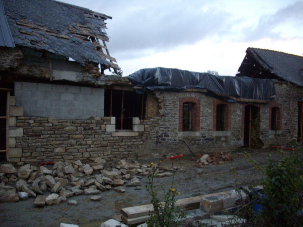 contraste entre l'ancien et le nouveau brique/pierre de taile