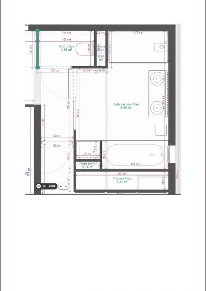 Plan SDB étage W01