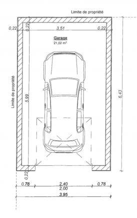 Plan du garage