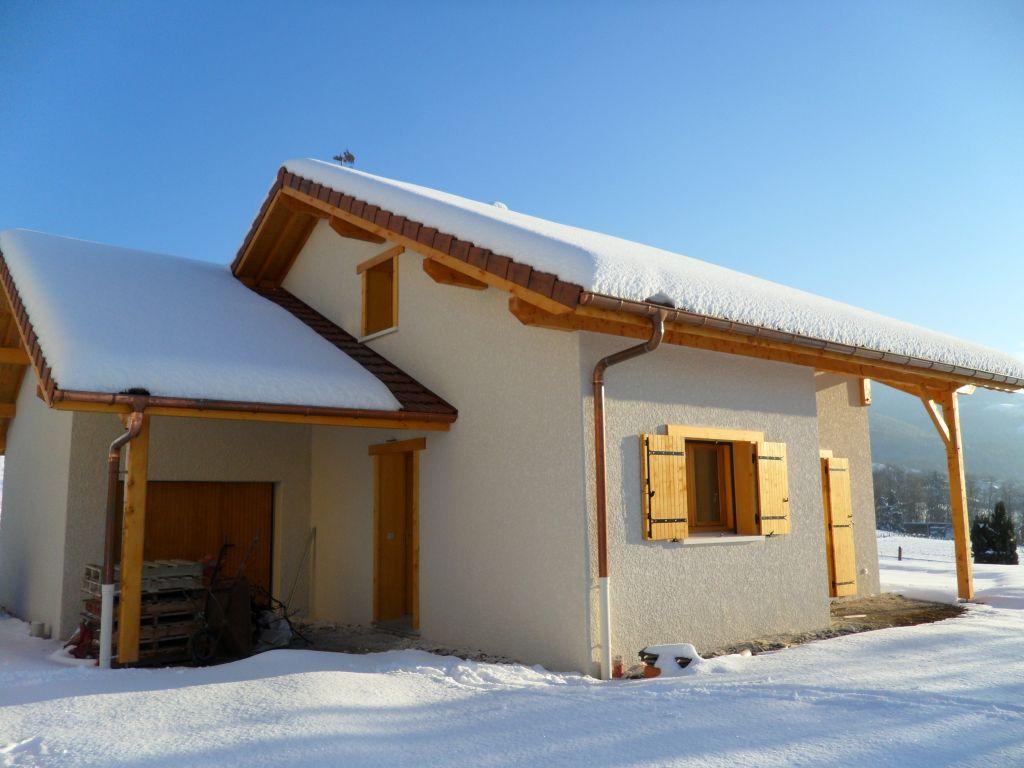 Construction d 39 une petite maison en savoie savoie for Petite maison construction