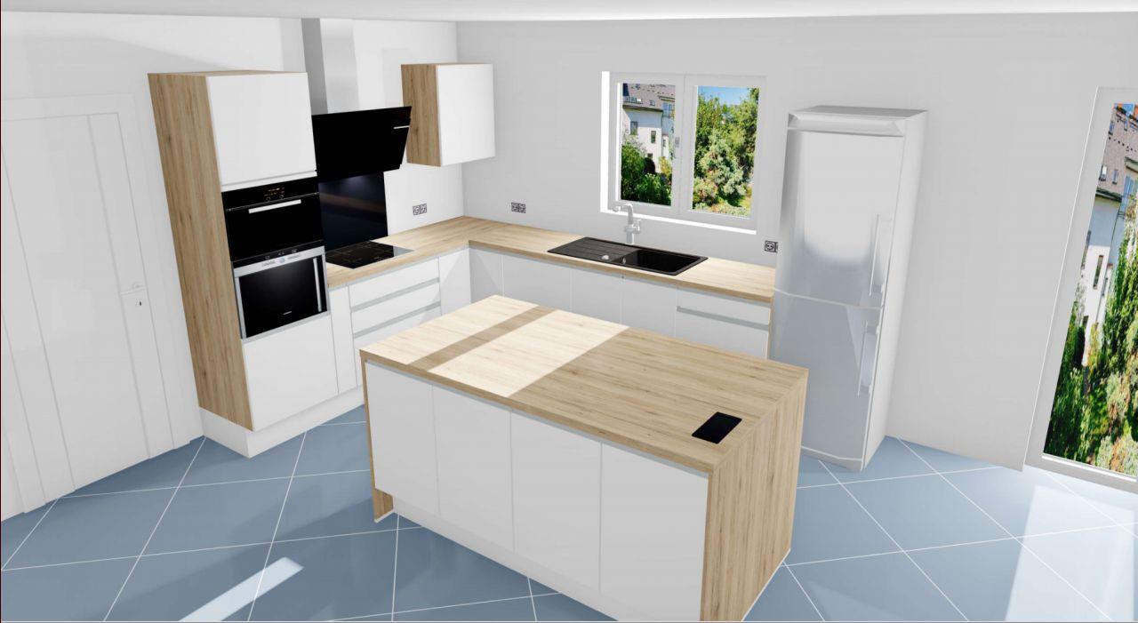 Plan 3D de la cuisine