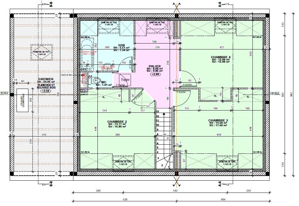 Plan de l'étage.