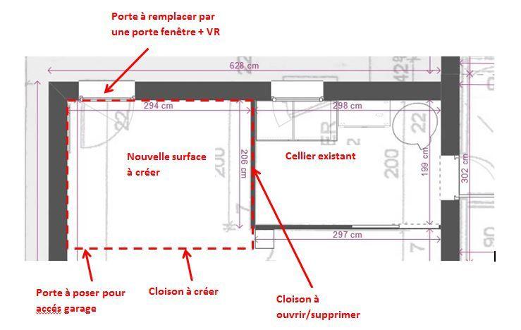 projet extension cellier
