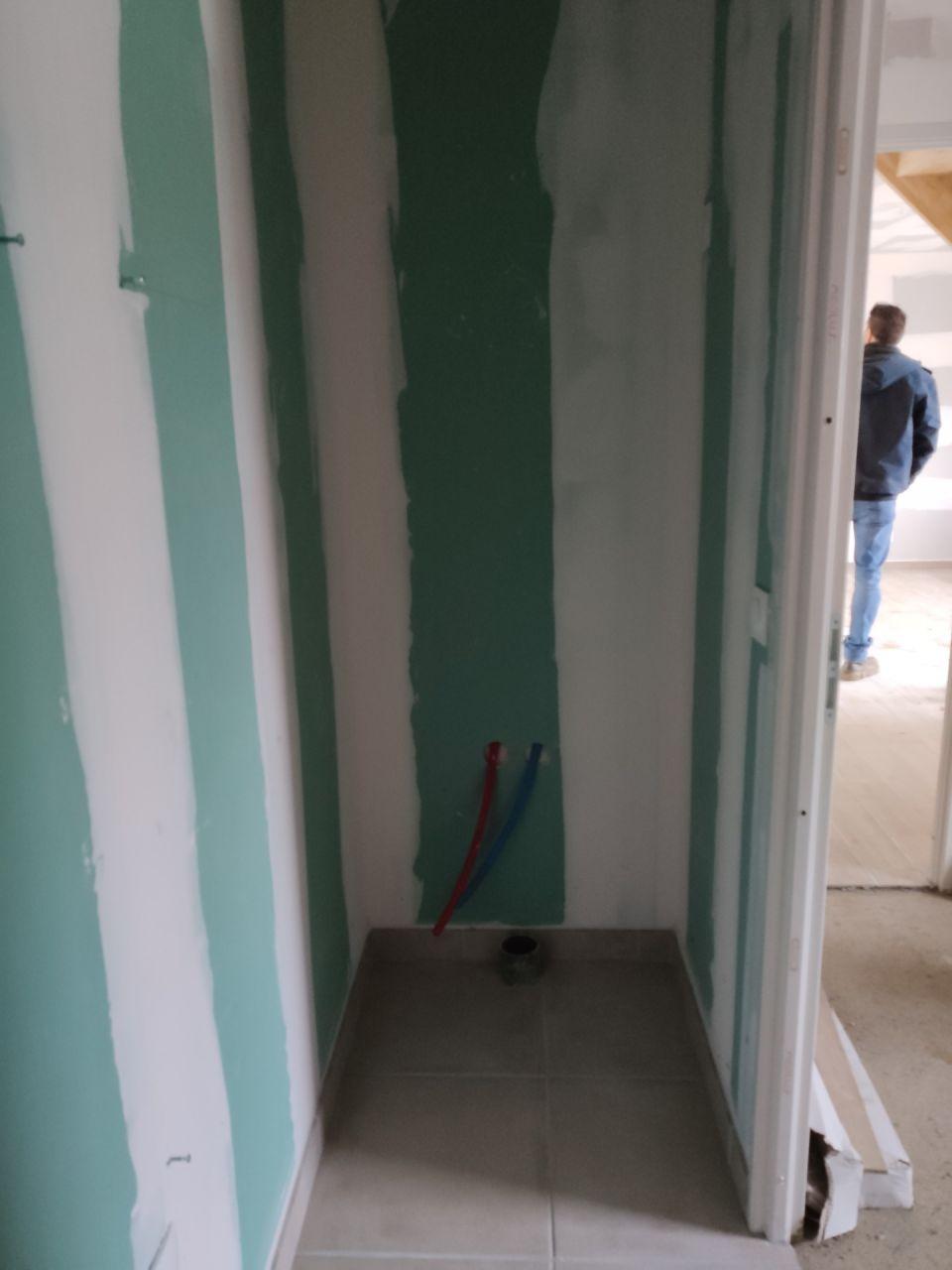 Rendez-vous du 22/01/2021 avec le conducteur de travaux. <br /> Salle d'eau parentale, RDC