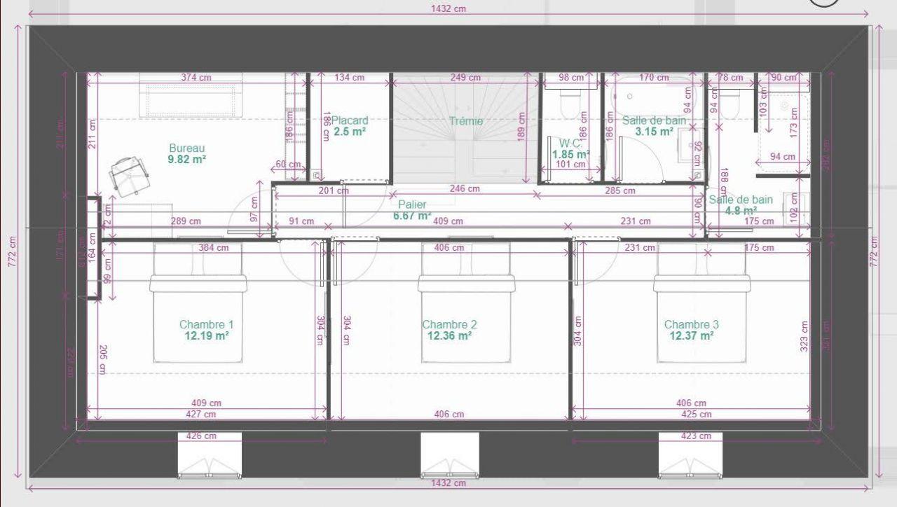 Plan étage 2