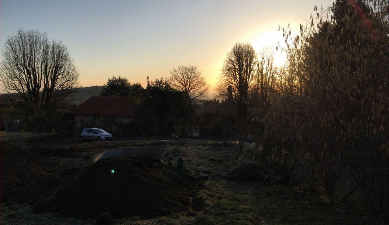 Lever du soleil depuis le terrain