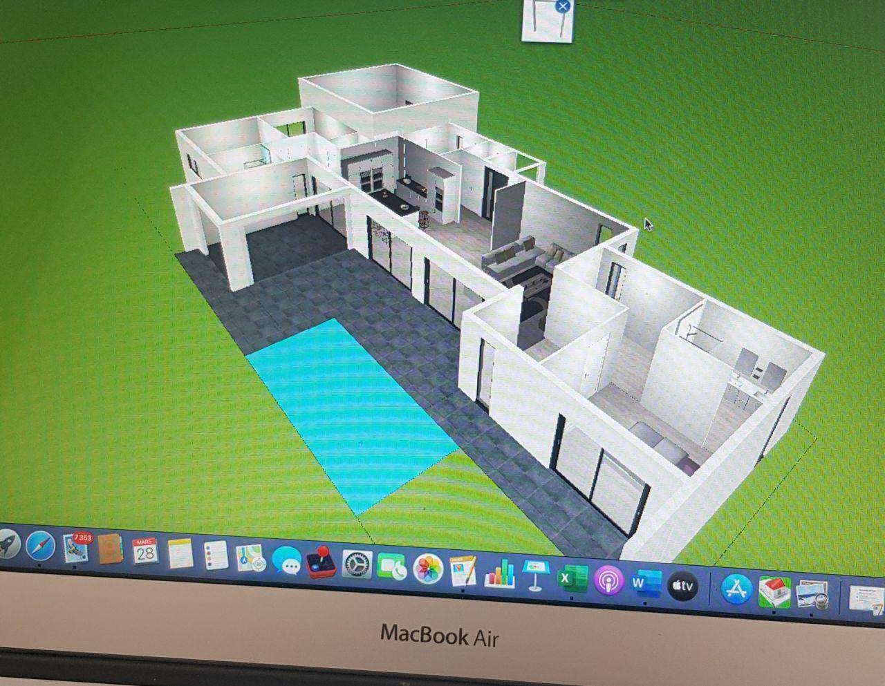 """3D faite avec """"Home design 3D"""""""