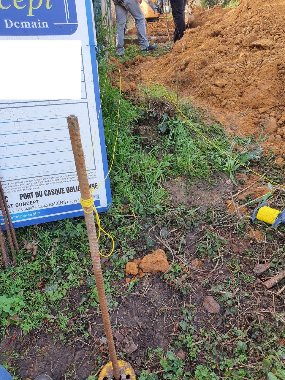 Vérification des limites de propriétés... les voisins pensent que l'on creuse chez eux...