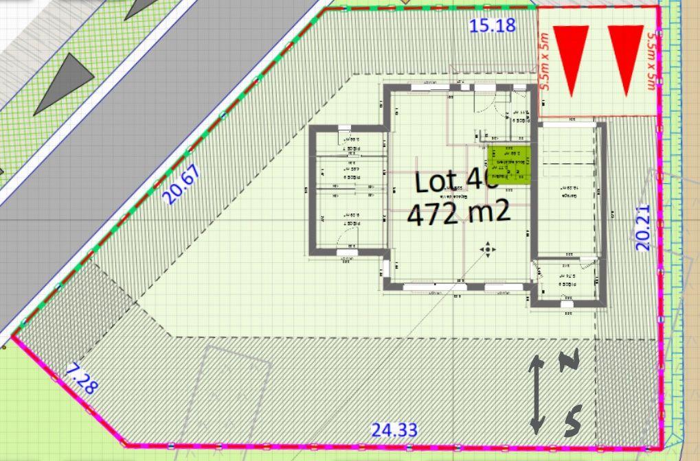 Implantation de la maison avec une orientation sud