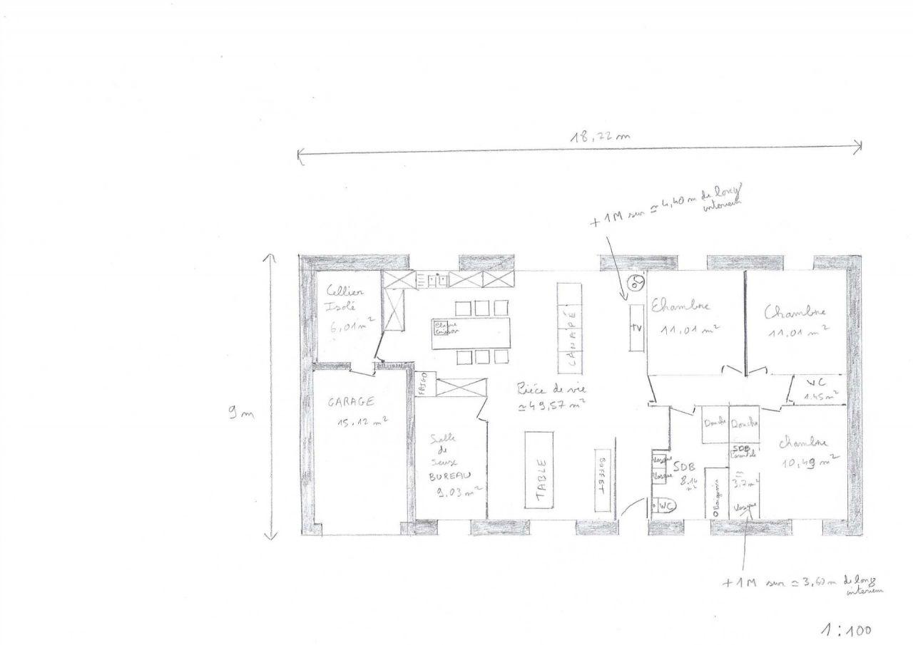 Voici le plan de la maison retravaillé