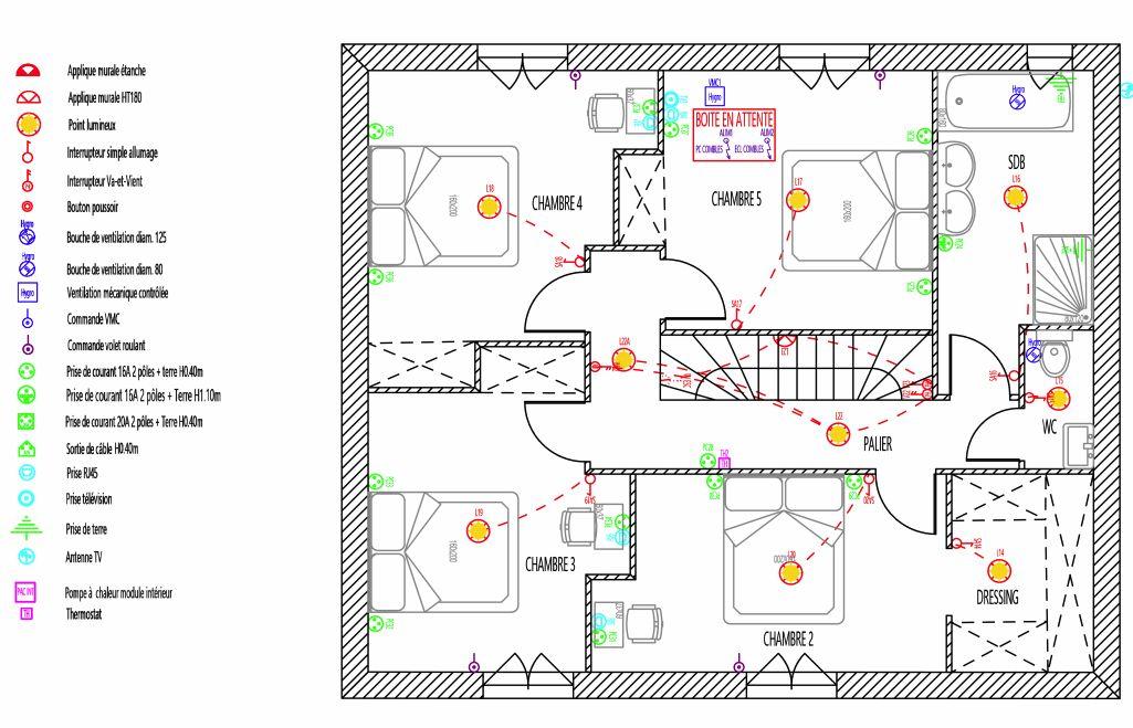Plan électrique de base etage