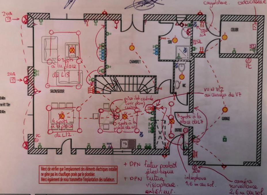 Plan électrique RDC modifié