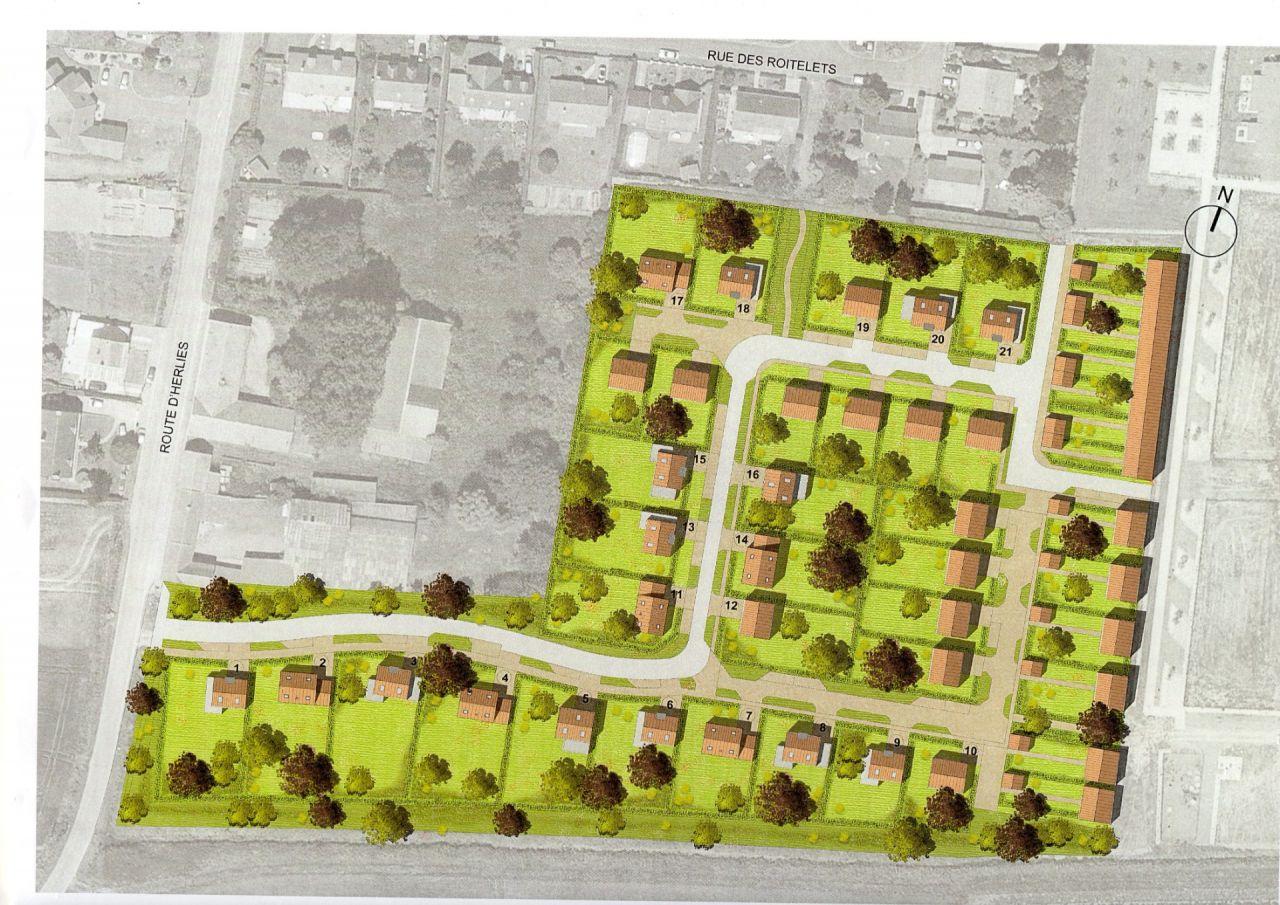 plan du lotissement du domaine de la Pommeraie à Fromelles.