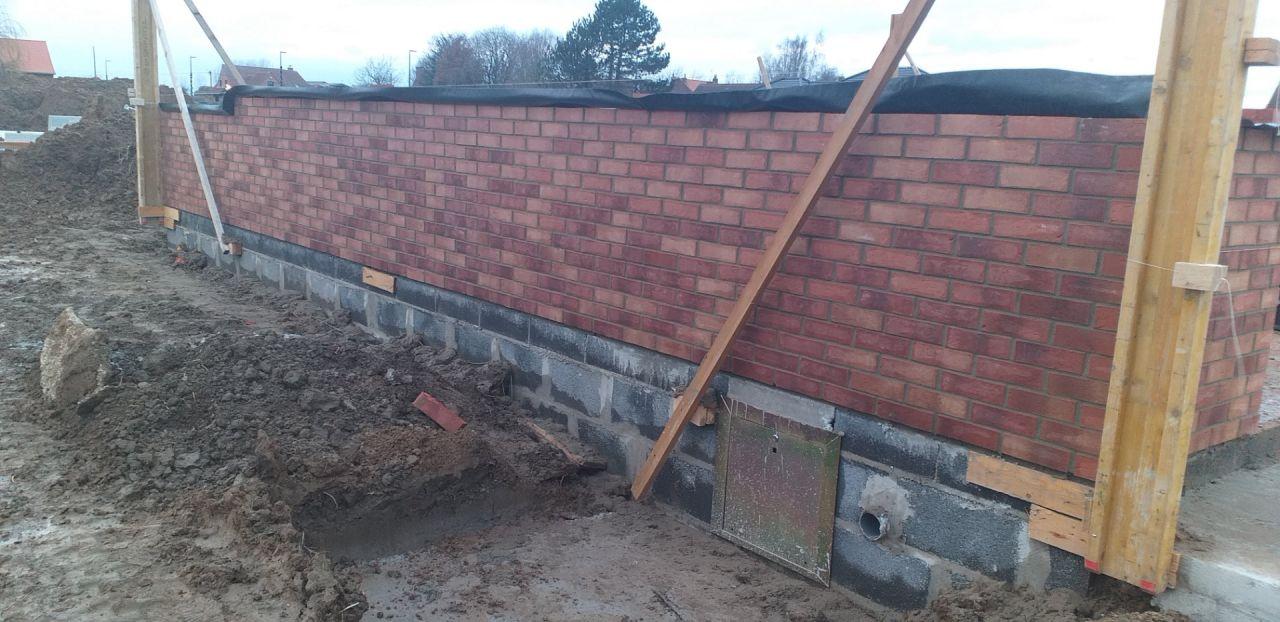 Elévation du mur