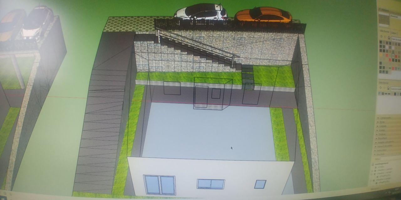 Plan d'aménagement du jardin avant