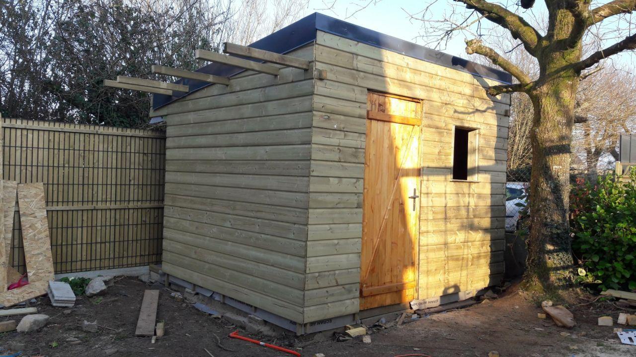 La cabane presque terminée