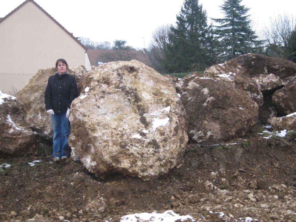 Taille des rochers