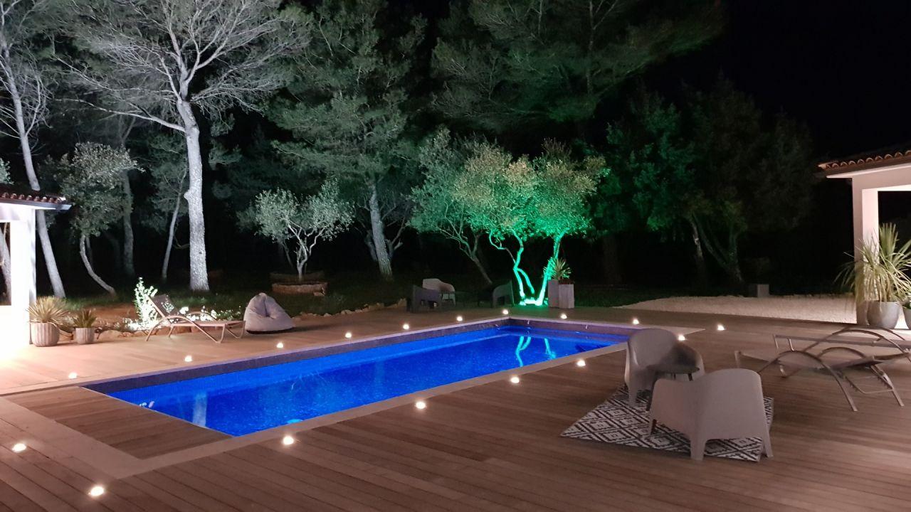 Déco terrasse extérieure by night