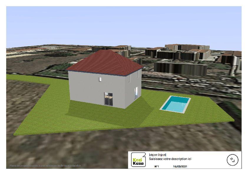 Implantation de la piscine sur le terrain