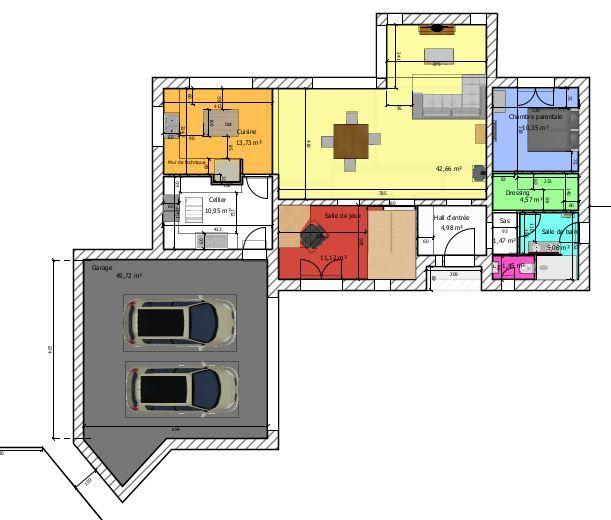 Plan de la maison + garage