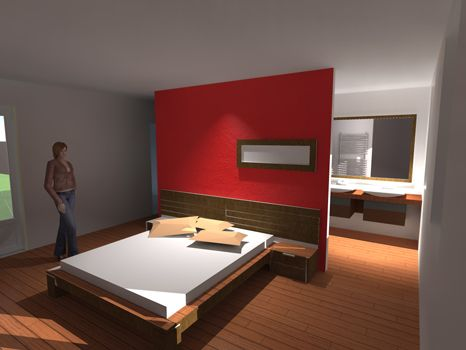 Amnagement garage en chambre chambre s design interieur for Surface suite parentale
