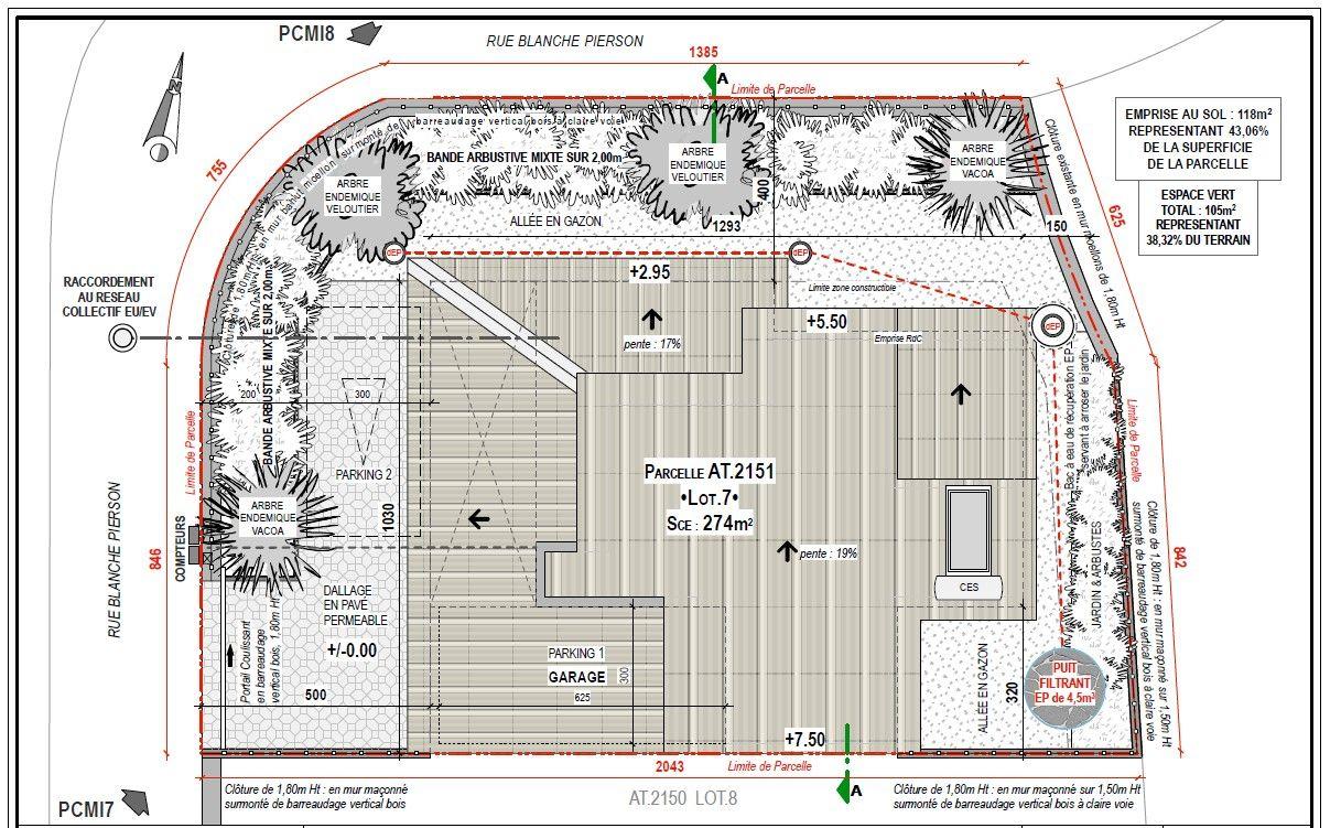 Plan de masse toiture de notre maison